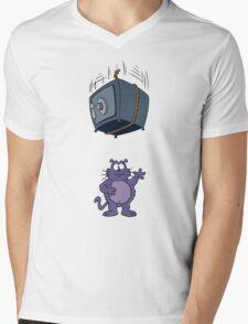 Eek the Cat - Falling Safe - No Font Mens V-Neck T-Shirt