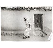 An Old Woman in Bodhgaya Poster