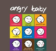 Angry Baby colour blocks white text Unisex T-Shirt