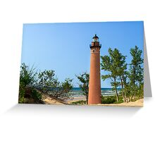 Lighthouse at Little Sable Point Greeting Card