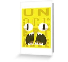 UNACCEPTABLE!!! Lemongrab Typography | adventure time Greeting Card