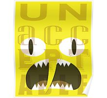 UNACCEPTABLE!!! Lemongrab Typography | adventure time Poster