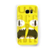 UNACCEPTABLE!!! Lemongrab Typography   adventure time Samsung Galaxy Case/Skin