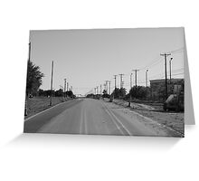 Empty Miles Greeting Card