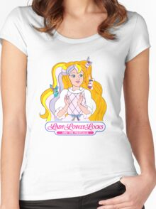 Lady Lovely Locks and the Pixietails - Logo - Color Women's Fitted Scoop T-Shirt