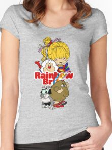 Rainbow Brite - Group Logo #1 - Color  Women's Fitted Scoop T-Shirt