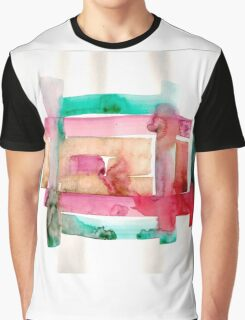 Asymmetrical Mandala - Small Abstract Landscape,  watercolor, ink & pencil on paper Graphic T-Shirt