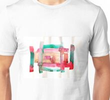 Asymmetrical Mandala - Small Abstract Landscape,  watercolor, ink & pencil on paper Unisex T-Shirt