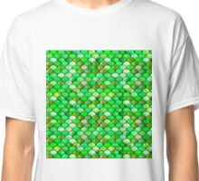 Green watercolor scales Classic T-Shirt