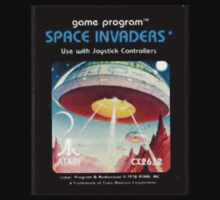 "Origional ""Space Invaders"" cover art by Atari. Kids Clothes"