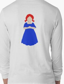 Cute Little Girl with Red Hair and a Blue Dress Long Sleeve T-Shirt