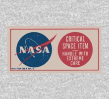 NASA - Critical Space Item Handle with Extreme Care (Front) Kids Tee
