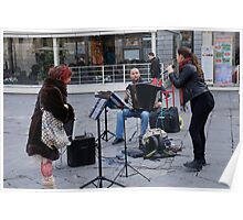 Street singer(performing in Firenze italy) Poster