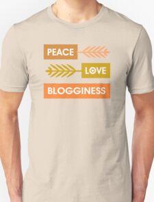 Peace, Love, Blogginess Unisex T-Shirt