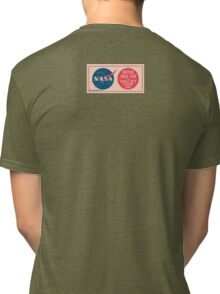 NASA - Critical Space Item Handle with Extreme Care (Back) Tri-blend T-Shirt