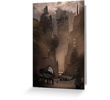 Dune Concept work.  The mountains of Arakis Greeting Card