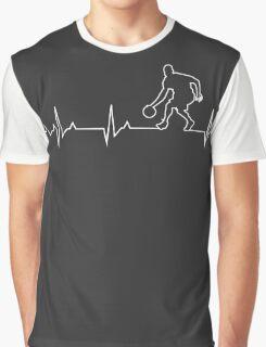 Basketball Heartbeat T-shirt & Hoodie Graphic T-Shirt