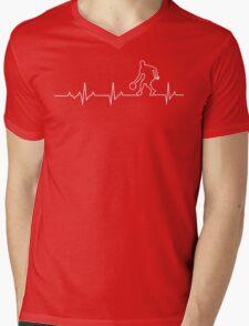 Basketball Heartbeat T-shirt & Hoodie Mens V-Neck T-Shirt