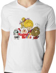 Rainbow Brite - Group Logo #2 - Color Mens V-Neck T-Shirt