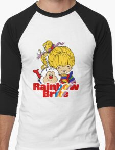 Rainbow Brite - Group - Rainbow & Twink - Large - Color Men's Baseball ¾ T-Shirt