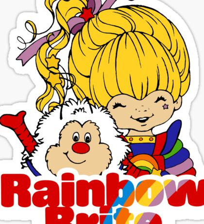 Rainbow Brite - Group - Rainbow & Twink - Large - Color Sticker