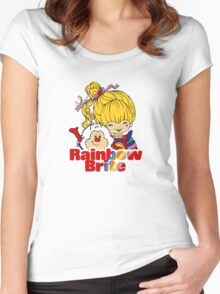 Rainbow Brite - Group - Rainbow & Twink - Small - Color Women's Fitted Scoop T-Shirt