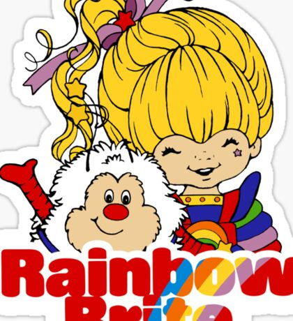 Rainbow Brite - Group - Rainbow & Twink - Small - Color Sticker