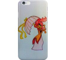 Flame Princess umbrella iPhone Case/Skin