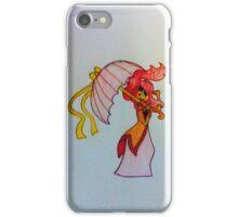 Flame Princess umbrella iPhone Case/Skin
