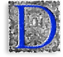 The Fantastic Letter D Canvas Print