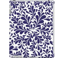 Blue Leaves Pattern iPad Case/Skin