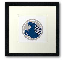 Prancing Horse Side Circle Framed Print
