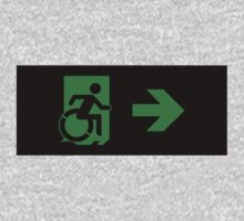 Accessible Means of Egress Icon Emergency Exit Sign, Right Hand Arrow Kids Clothes