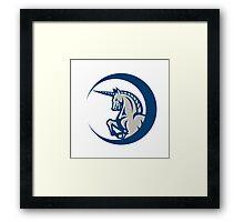 Unicorn Horse Prancing Side Framed Print