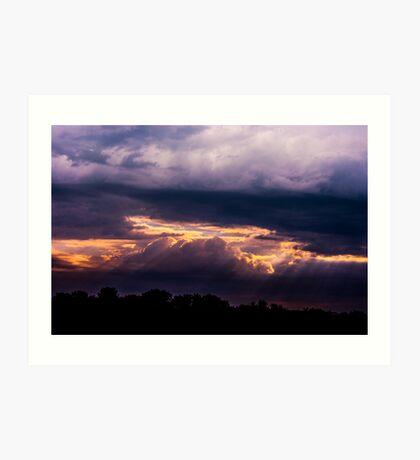 A Threatening Sky Art Print