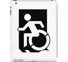 Accessible Means of Egress Icon Emergency Exit Sign, Left Hand iPad Case/Skin