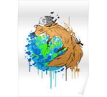 asleep on earth Poster
