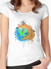 asleep on earth Women's Fitted Scoop T-Shirt