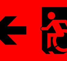 Accessible Means of Egress Icon Emergency Exit Sign, Left Hand Arrow by Egress Group Pty Ltd