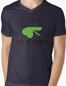 St. Patrick's day: 50 % irish Mens V-Neck T-Shirt