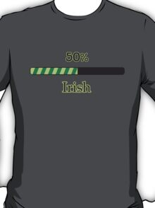 St. Patrick's day: 50 % irish T-Shirt