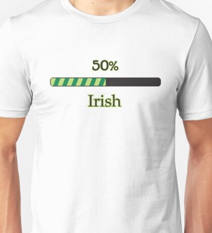 St. Patrick's day: 50 % irish Unisex T-Shirt