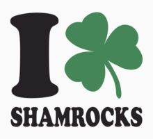 St. Patrick's day: I love shamrocks Kids Tee