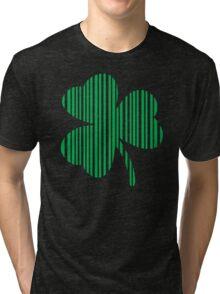 St. Patrick's day: Shamrock Barcode Tri-blend T-Shirt