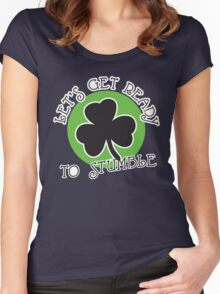 St. Patrick's day: Let's get ready to stumble Women's Fitted Scoop T-Shirt