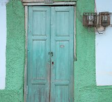 Green Wooden Door by rhamm