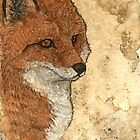 Lone fox by Bluecrow10