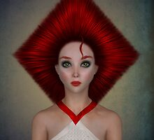 Queen of diamonds portrait by Britta Glodde
