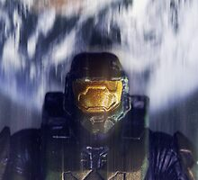 Master chief John-117 Halo Spartan by BadWolfs