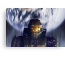 Master chief John-117 Halo Spartan Canvas Print